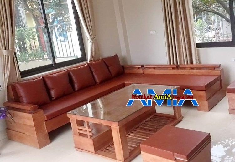 Hình ảnh bàn ghế gỗ mini cho phòng khách đẹp da