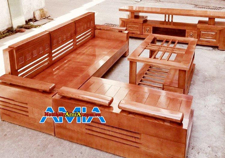 Hình ảnh bộ bàn ghế gỗ mini cho phòng khách nhỏ gọn