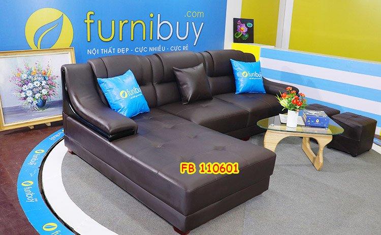 Hình ảnh bộ ghế sofa da nhập khẩu Hàn Quốc giá rẻ FB 110601