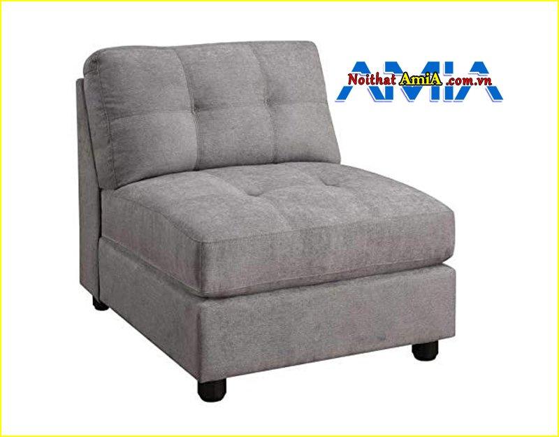 Hình ảnh bộ ghế sofa đơn mini màu xám lông chuột AmiA SF1992450