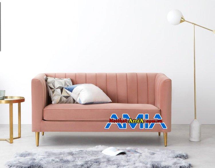 8 ghế sofa nỉ nhỏ mini cho phòng khách hẹp