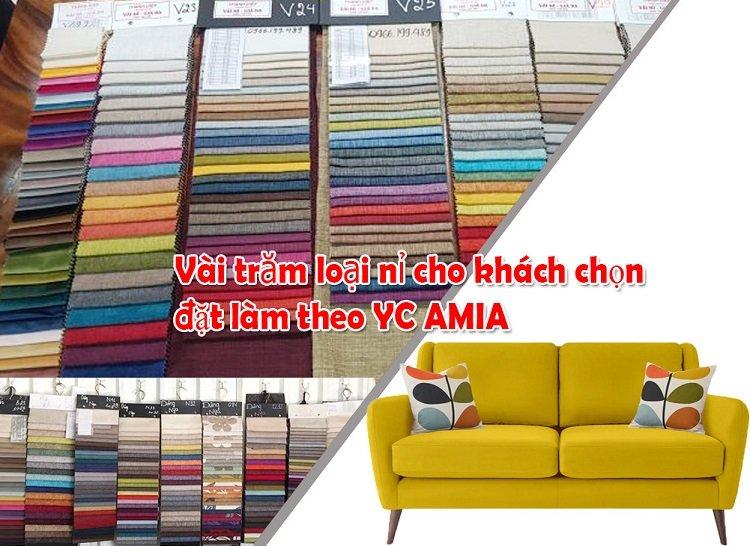 Khách hàng đặt làm ghế sofa văng nỉ theo yêu cầu tại AmiA chỉ 3 - 6 hôm xong