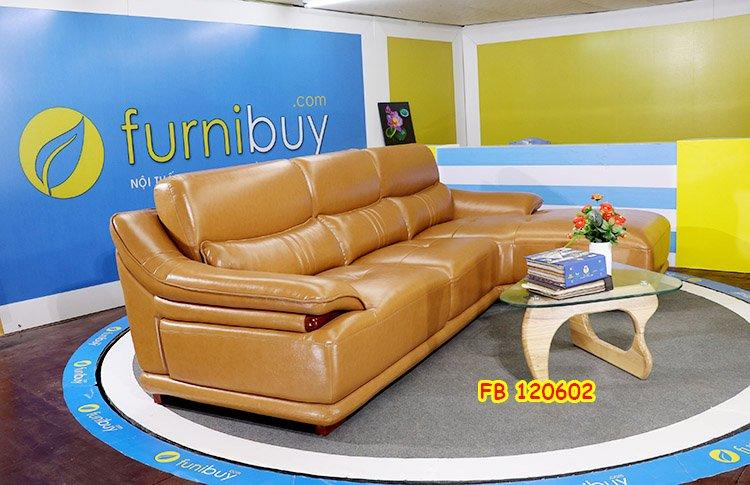 Hình ảnh ghế sofa da cao cấp phòng khách FB120602