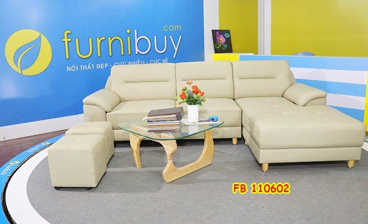 Hình ảnh ghế sofa da công nghiệp giá rẻ FB 110602