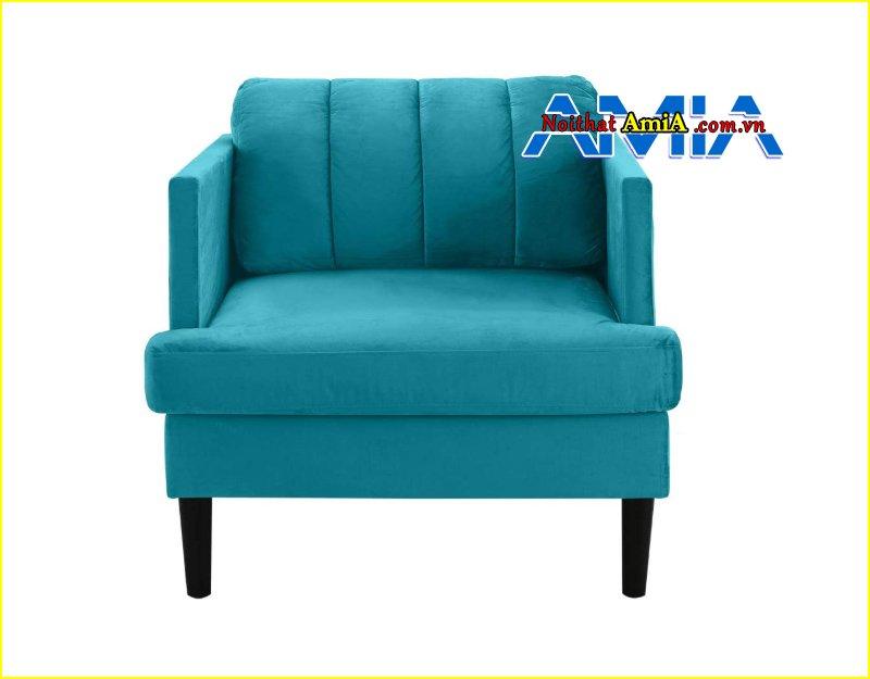 Hình ảnh ghế sofa đơn kích thước nhỏ màu xanh AmiA SF1992446