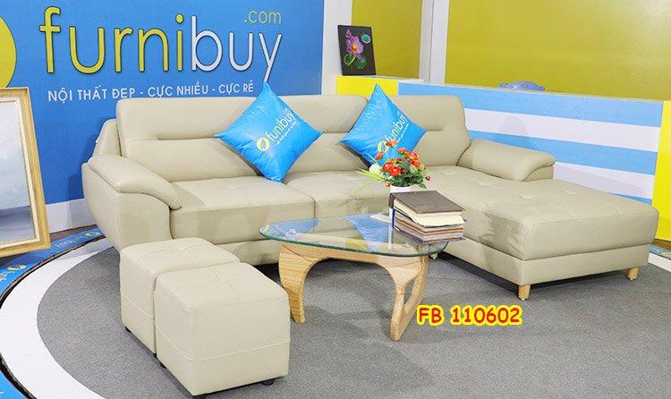 Hình ảnh ghế sofa góc nhỏ bọc da hiện đại