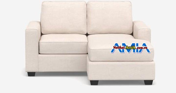 hình ảnh ghế sofa góc nỉ kích thước nhỏ