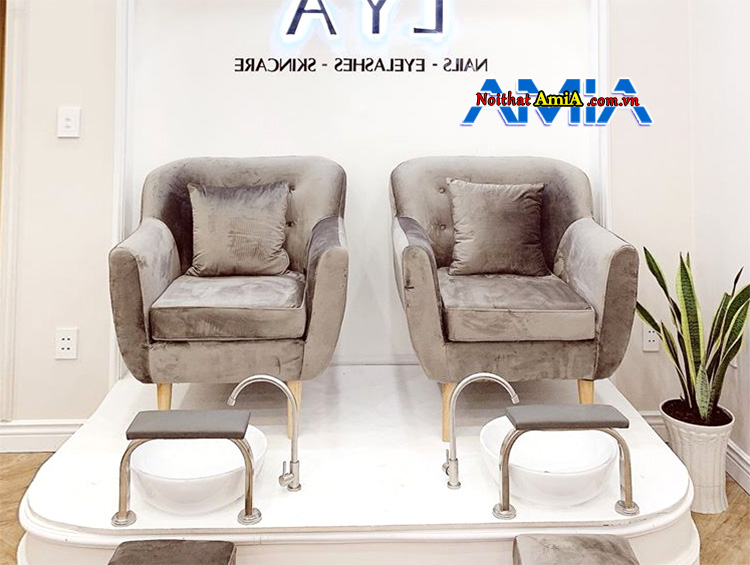 Hình ảnh ghế sofa mini giá rẻ Hà Nội cho tiệm nail