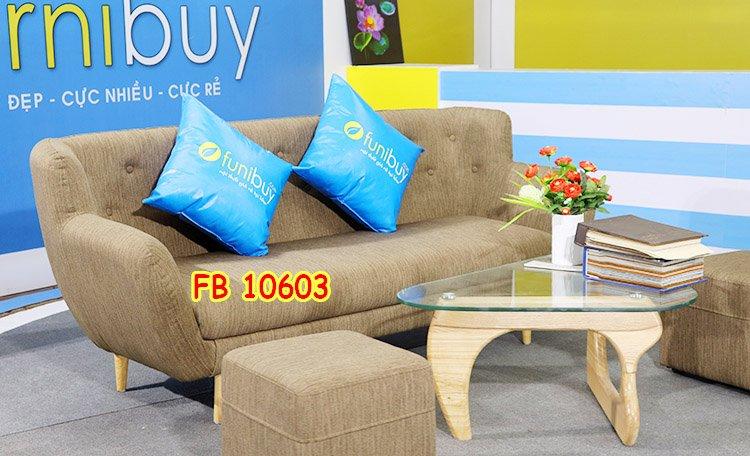 Hình ảnh ghế sofa mini nhỏ giá rẻ bọc nỉ FB10603