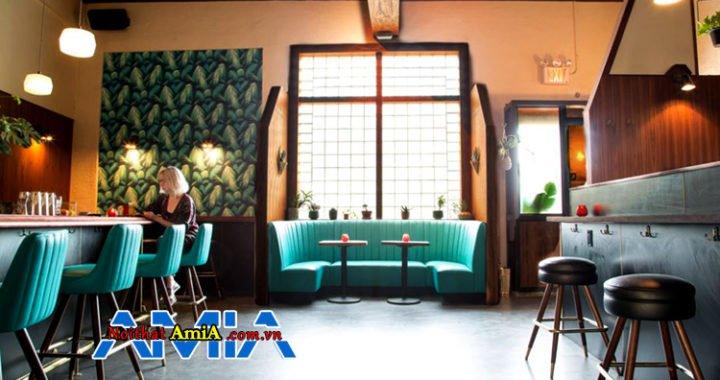 Không gian quán Bar, karaoke với ghế sofa nhỏ mini