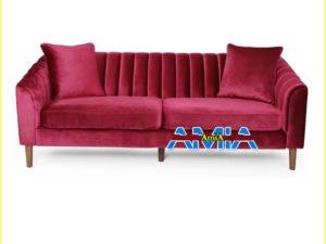 Hình ảnh ghế sofa nhung nhỏ đẹp màu đỏ