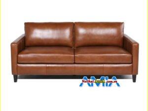Chiêm ngưỡng lại mẫu ghế sofa da mini kích thước 1m8