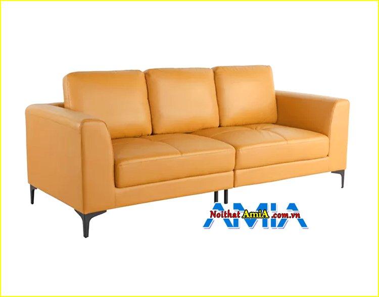 Hình ảnh mẫu ghế sofa văng da nhỏ gọn mini