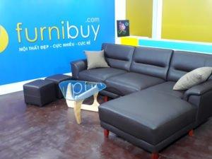 Hình ảnh ghế sofa da phòng khách chung cư đẹp
