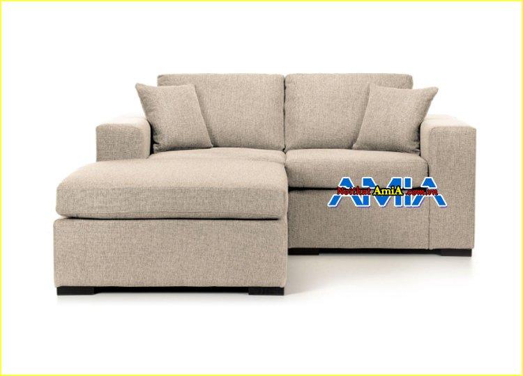 hình ảnh bộ sofa góc nỉ nhỏ mini giá rẻ
